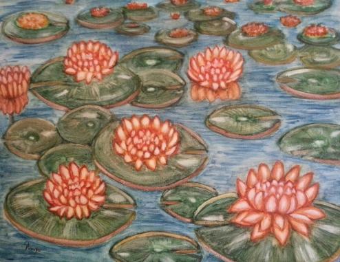 الورد العائم
